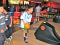 Sixth-grader Justin Wong gets ready to take his team to the win at the Fun-raiser. Photo by Waverley Achacoso