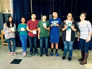 8th grade Honor Roll and Principal's Honor Roll recipients. Photo by Teacher Lori Oducayen.