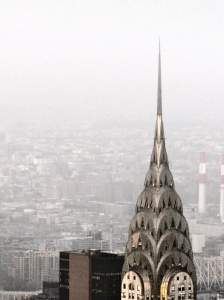 The Chrysler Building, as seen from the top of the Empire State Building. Photo by Rowan Esquer