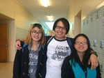 Alameda High School freshmen Jasmine Tubmanee, Rowan Esquer and Natalie Dang graduated from BFMS in June.
