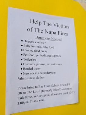 wildfire donation poster
